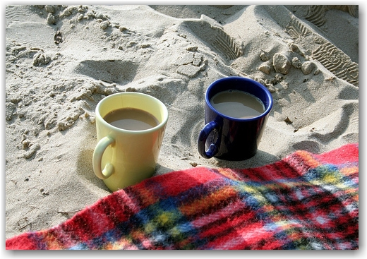 Nachmittagskaffee am Elbstrand